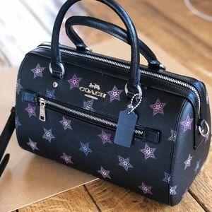 NWT Coach Stars Print Rowan duffle Satchel Handbag